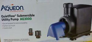 New! Aqueon QuietFlow AQ3000 Submersible Utility Pump up to 530 gph