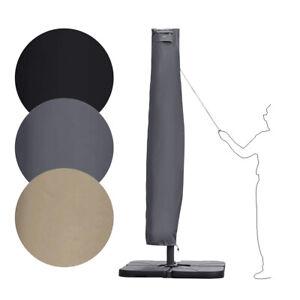 Sonnenschirmhülle Ampelschirm Schutzhülle Abdeckung mit Stab und Reißverschluss