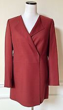 NWT AKRIS for BERGDORF GOODMAN Dark Red Suit Jacket Blazer 100% Wool 8 $2990