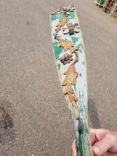 Rustic Wood Boat Oar W/ Wash Rock Floral Flower Fish on Stringer Sign Decor