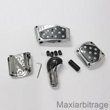 Universel Aluminium Carbone Kit vitesse Pommeau levier et pédales Voiture