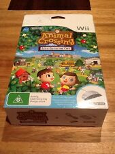 Nintendo Wii Animal Crossing Lets Go To The City NEW Pal Wii Speak Console Game