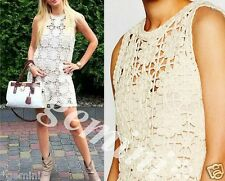 ZARA LIMITED EDITION MACRAMÉ CROCHET DRESS MAKRAMEE KLEID STRICKKLEID SIZE M 38