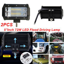 2x 5Inch 72W LED Work Light Flood Driving Lamp Bulb for Jeep Truck Boat Off-road