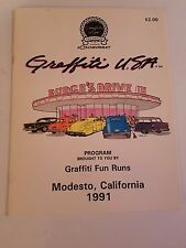 Vintage American Graffiti Car Show & Festival Program Modesto California 1991