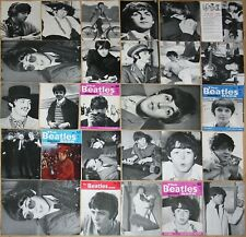 PAUL McCARTNEY photos from 1960s Beatles Monthly Book magazines clippings poster