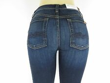 NWT 7 SEVEN FOR ALL MANKIND, The Mid Rise Skinny, Rinsed Indigo, Size 28, $198