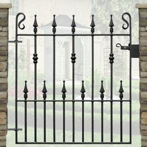 Safety Spear Single Steel Garden Gate - 3ft Opening | Wrought Iron Metal Gates