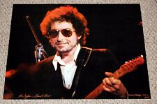 BOB DYLAN In Concert playing Fender Tele The Band Tour Poster 1974 Nick Eldredge