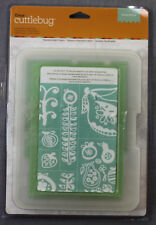 Cricut Cuttlebug Repositionable All-In-One Embossing Plates   FRUIT PUNCH   NEW