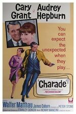 CHARADE MOVIE POSTER - CARY GRANT AUDREY HEPBURN 2