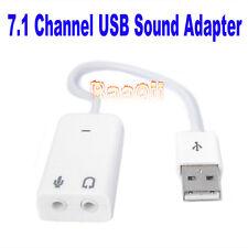 USB 2.0 Virtual 7.1 Channel Audio Sound Card Adapter 3D FOR Win7 Mac Windows7 MA