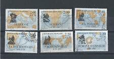 Personnages célèbres numéro 2517 à 2522 , timbres oblitérè de France