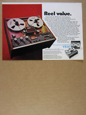 1973 TEAC 1230 Reel to Reel Tape Deck photo vintage print Ad