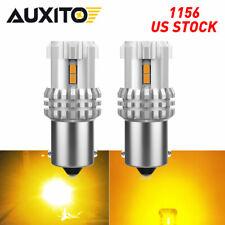 Auxito Led Turn Signal Blinker Light 1156 7506 Amber Yellow Bright Drl Bulbs Eon