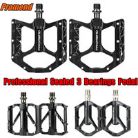 """PROMEND Aluminum Wide Bicycle Pedal Cycling MTB Road Bike Pedal 3 Bearing 9/16"""""""