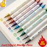 NEW 10Pcs DIY Paint Pens Art Metal Marker Double-Sided Highlighter Pens Marker