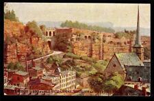 Tuck Worre-Mertens a/s Beraud Bock et Ville-Basse du Grund Luxembourg postcard