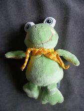 Doudou BABYSUN baby sun nursery grenouille écharpe jaune