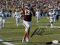 Mike Evans Signed *Blk Texas A&M 8x10 Running Against Auburn Photo- JSA W Auth
