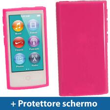 Rosa Custodia TPU Gel per Nuovo Apple iPod Nano 7 Gen Generazione 7G Case Rigida