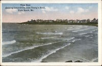 York Beach ME View East c1920 Postcard