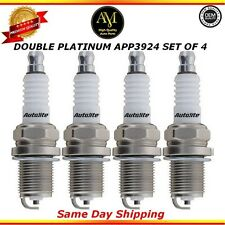 Double Platinum Spark Plugs APP3924 Set of 4 For Mazda Mitsubishi Toyota 2.4L