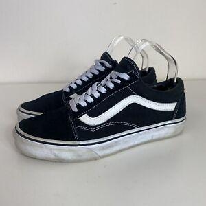 Vans Ladies Black White Suede Old Skool Flat Trainers Plimsolls Shoes UK 6.5