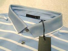 Greyson Golf Performance Fabric Calusa Blue Stripe Polo Golf Shirt NWT XL $95