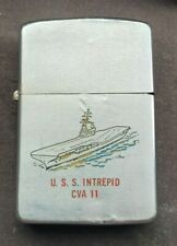 New listing VINTAGE 1960 ZIPPO LIGHTER USS INTREPID  CVA 11   US NAVY    8