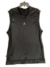 QTY: 2 AIR JORDAN 20 Years Jumpman Black Sleeveless & Silver/Black Jersey Large