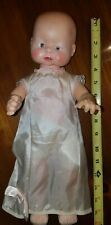 "Vintage Plastic Doll Baby 1950's Original Clothes 16"" Arms bend"