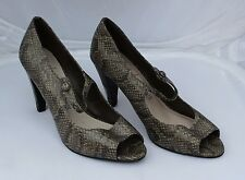 M&S Shoes Shoes Shoes Patent Snake Print Peep Toes Size 5.5