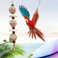 Pet Supplies Bird Rattan Ball Loofah Sponge Parrot Cage Toy With Bell Gnawing