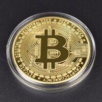 BITCOIN Physical Bitcoin in protective acrylic case FAST SHIPPING
