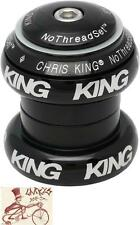 "CHRIS KING NO THREADSET BLACK BOLD 1-1/8"" THREADLESS BICYCLE HEADSET"