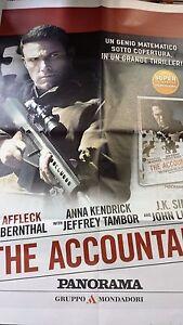 Locandina edicola-poster 80X90:The Accountant Affleck DVD EDIZ.PANORAMA