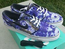 Nike Zoom Stefan Janoski PR QS White Black Deep Royal Blue Sz 10 Tie Dye SB NIB