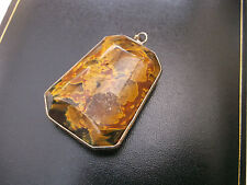 Women's Unusual Vintage Pendant Glass Weight 24.9g Heavy Stamped
