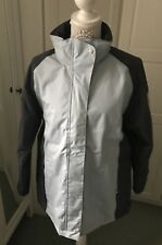 Regatta Waterproof Jacket Great Outdoors Baby Blue And Navy Hooded Hiking Size L