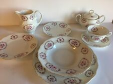 Favolina China Made In Poland ~ Rosette Pattern #4266 ~ Service For 8 + ~ 76 Pcs