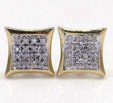 0.12ct Mens Ladies 10k Yellow White Real Gold Diamond Kite Star Earrings Studs