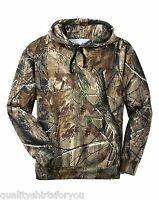 Russell Outdoors Mens Realtree AP Camo Sport Hooded Sweatshirt Size S-3XL NEW