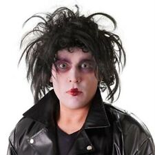Edward scissorhands 1980 halloween rocker métal perruque robe fantaisie homme P7324