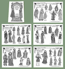 5 Sammlungen Nr. 1 bis 5 - Top Mittelalter Modell- Schnittmuster 5.1