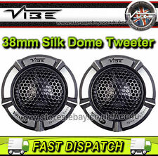 Vibe Audio BlackAir 1 BA1-V1 180 Watts 38mm Silk Dome Car Door Tweeters Set Pair
