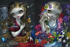 Jasmine Becket-Griffith SIGNED goddess fairy Flora and Fauna set of 2 art prints