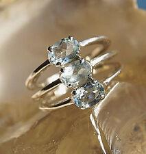 Extrem Massiv Breit Silberring 54 Blautopas Hellblau Ring Silber Schlicht Modern