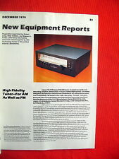 "SANSUI TU-919 und Yamaha MC-1X TEST TESTBERICHTE ""High Fidelity"" 12/79"