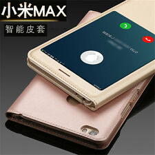 Luxury Shockproof View Window PU Leather Flip Case Cover For XiaoMi Mi Max/Max 2